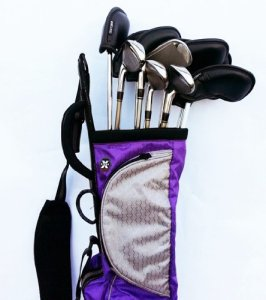 Wellzher With Golf Clubs