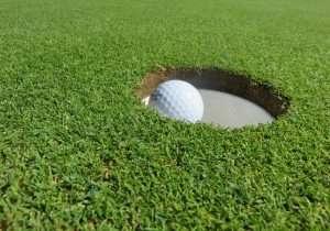 golf ball, golf, eingelocht